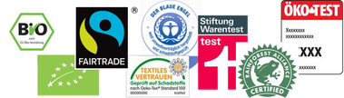 Label Siegel und Zertifikate für Lebensmittel
