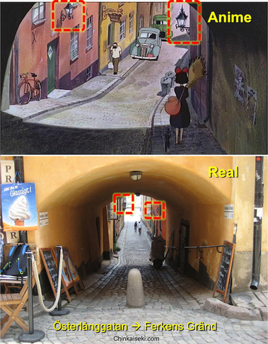 """魔女の宅急便、ストックホルム旧市街ガムラスタン。Gamla Stan, Stockholm, Sweden on the Ghibli """"Kiki's Delivery Service"""""""
