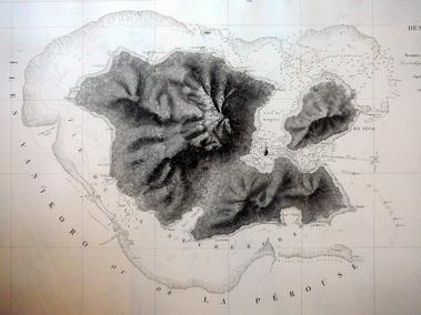 Carte de Vanikoro de Dumont d'Urville