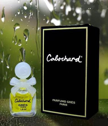 CABOCHARD - MINIATURE  PARFUM 1,8 ML - BOUCHON ET NOEUD  PLASTIQUE BLANC