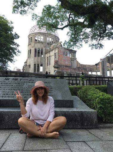 A-Bomb-Dome...dat eenzegt wat nach iwreg blouf vun Hiroshima