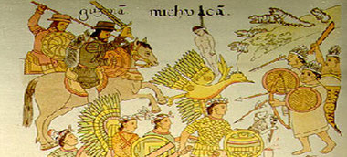 La conquête du Michoacán. Lienzo de Tlaxcala, vers 1550.
