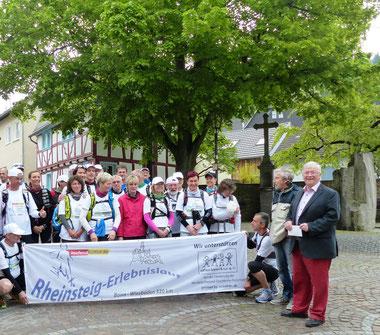 Rheinsteig-Erlebnislauf macht Station in Unkel-Scheuren