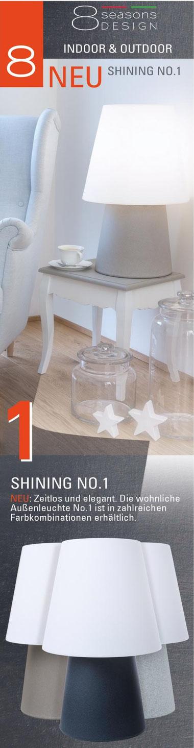 Deko-Leuchte No 1 - 60 cm von 8Seasons Wohn.-und Gartenleuchte ,Dekorationsleuchte Indoor und Outdoor fur 99 €