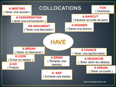 Collocations con have en inglés