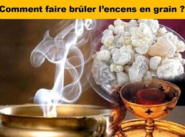 Comment faire brûler l'encens en grains  - Boutique d'encens naturel - Casa bien-être.fr