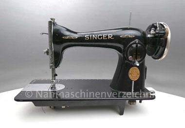 Singer Kl. 15/88, Geradstich-Flachbett-Nähmaschine, Anbaumotor, Serien-Nr.: EA282482, Baujahr 1936, Hersteller: Singer Manufacturing Company, Clydebank, GB  (Bilder: I. Bocker)