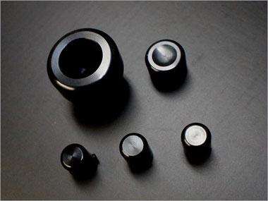 NA用アルミビレットA/Cノブ&ダイヤルセット(ブラックアルマイト)