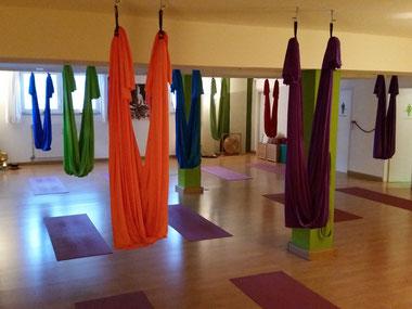 Aerial Yoga im Yogastudio in Frechen