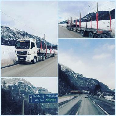 Heute mal in Österreich unterwegs... # holztransporte