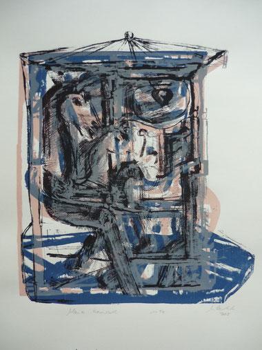 August Blaues Karussell 40 x 37