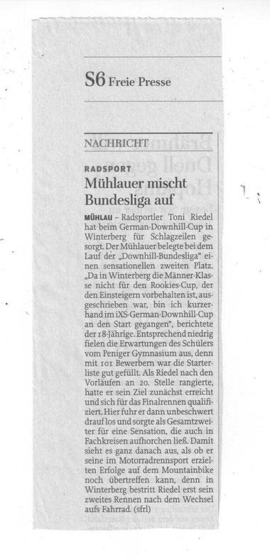 Freie Presse Rochlitz 12.06.2014