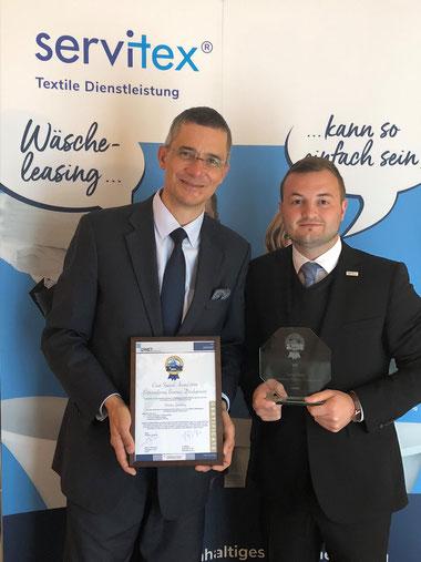 CINET Award 2018 - Rolf Slickers- Pascal Fleischmann - Fleischmann Mietwäsche