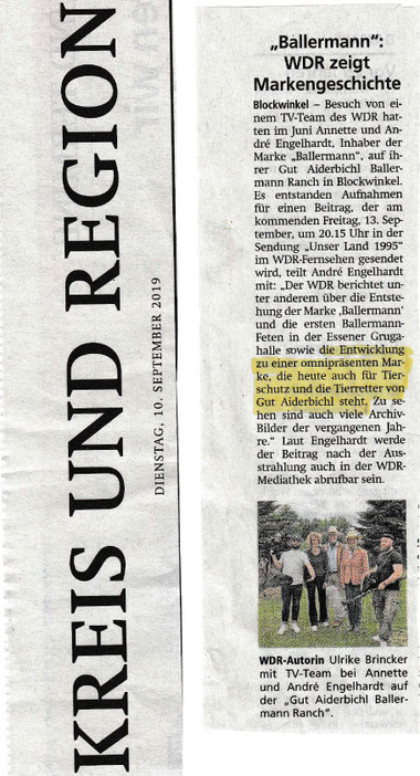 Kreiszeitung, Red. Sulingen/SulingerLand - 10.09.2019
