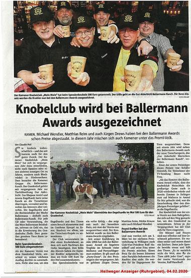 Annette u. andre Engelhardt zeichnen Knobelclub aus dem Ruhrpott mit Tierschutzpreis aus