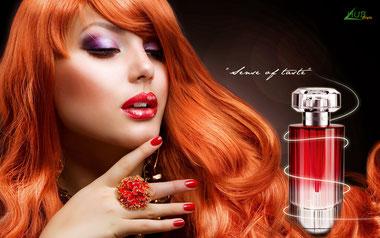 Publicité pour un parfum