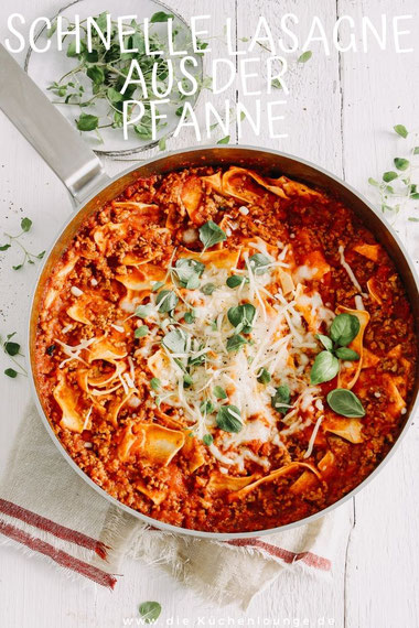 Schnelle Lasagne aus der Pfanne