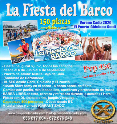 Contratar una boat party en Cádiz