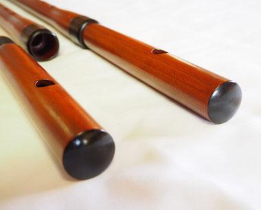 オリジナル横笛(木製)継ぎ管LowD管 笛頭
