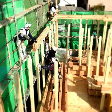 福山市の注文住宅はNacca Designへ!上棟風景#1