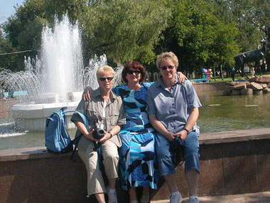 Sylvia und Dagmar mit Galina