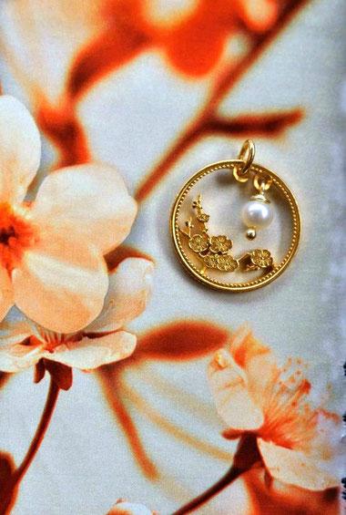 Münzsagewerk Katrin Thull | China - Pflaumenblüte mit Perle