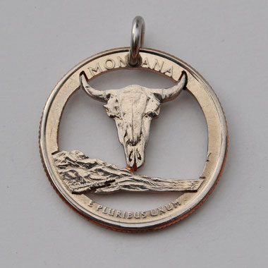 Münzsägewerk Katrin Thull | USA - Montana Büffelkopf