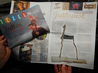 Artikel in de Texelnu wintereditie 2014,overjutten op Texel.
