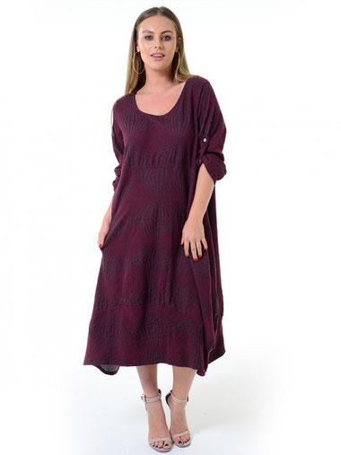 Kleid mit Struktur in A-Form