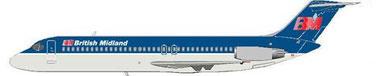 DC-9-Srs32 der British Midland/Courtesy: MD-80.com