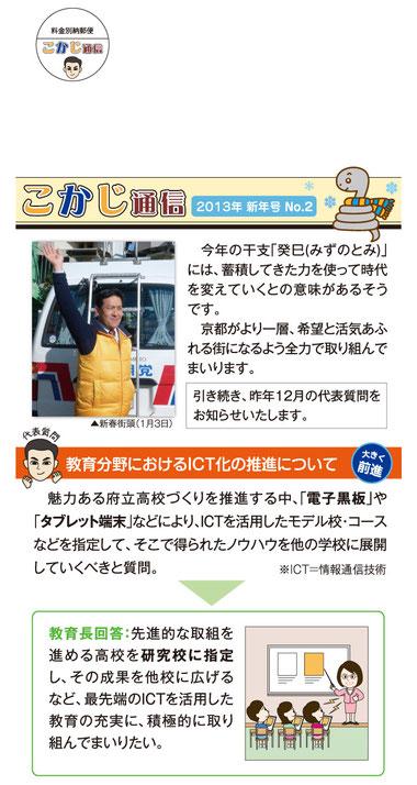 2013年 新年号 No.2/ハガキ・表面