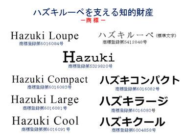 ハズキルーペを支える登録商標
