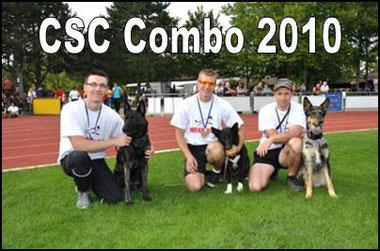 Deutscher Meister CSC 2010 v.l. Martin Schuster mit Amos, Sven Tatzel mit Amy, Kai Strasser mit Stella