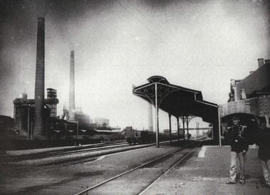 1903 - Vue Bahnübergang Bahnhof Richtung Schmelz