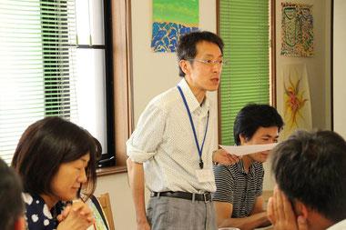 佐藤浩昭さん。第2期1回目セミナーにて。