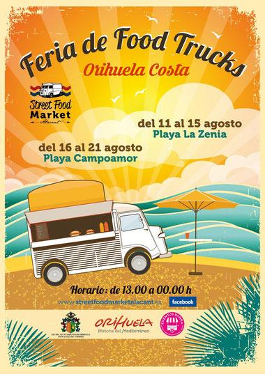 Programa de la Feria Food Trucks en Orihuela