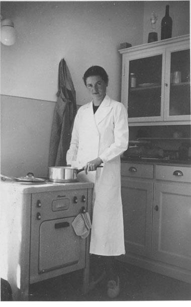 Lydia Hort - Schmid in der Küche ihres Wohnhauses im Oberdorf.