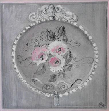 peinture ornementale de fleurs