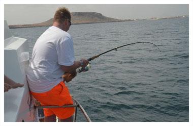Fischen vor Boa Vista auf der Fish, Chill & Grill Tour mit Boa Vista Tours