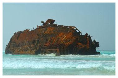 Schiffswrack Cabo Santa Maria auf Boa Vista auf der großen Boa Vista Exclusiv Tour mit Boa Vista Tours