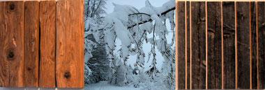 Altholzbild Trilogie der vier Jahreszeiten - Winter