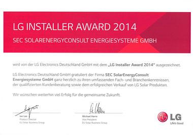 LG Installer Award 2014