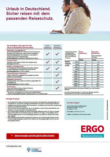 PDF-Flyer für Reiseschutz in Deutschland
