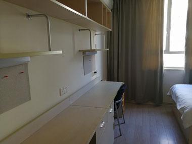 中国上海 華東師範大学 学生寮「2号楼」室内