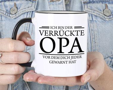 Bedruckte Tasse Opa