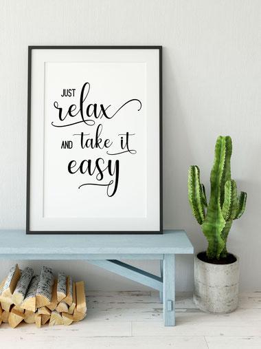 Kunstdruck Just relax