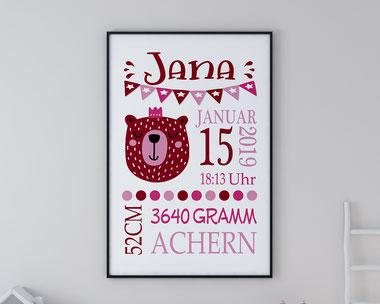 Geschenke zur Geburt Geburtsanzeigen skandinavisch