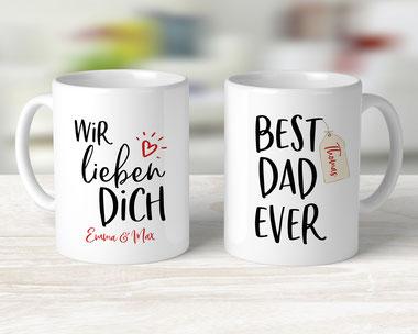 Geschenke für den Vatertag Tasse