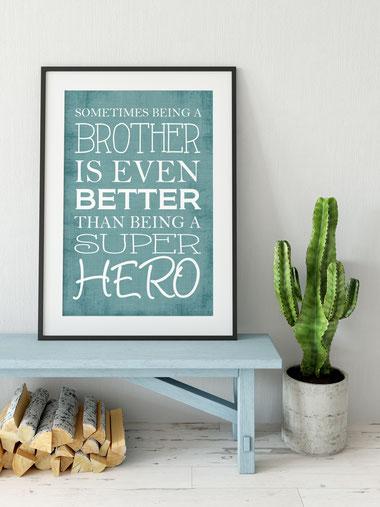 Kunstdruck Brother