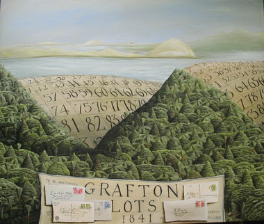 'Grafton Lots 1841' 1200 x1000mm, 2013, oil on canvas.